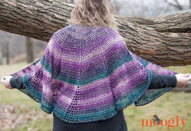 Lotus Blossom Shawl - free crochet pattern on Mooglyblog.com! Uses ...