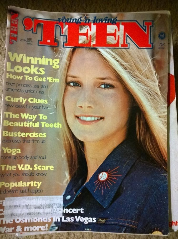 October 1974 Teen Magazine Girl Fashion Beauty Women -3979
