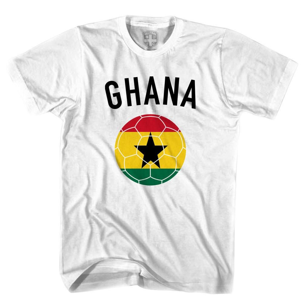 8994cb1ba Product Story  Ghana Soccer Ball T-shirt Product Description  - Printed In  USA - Cotton - Soccer T-shirt - Imported
