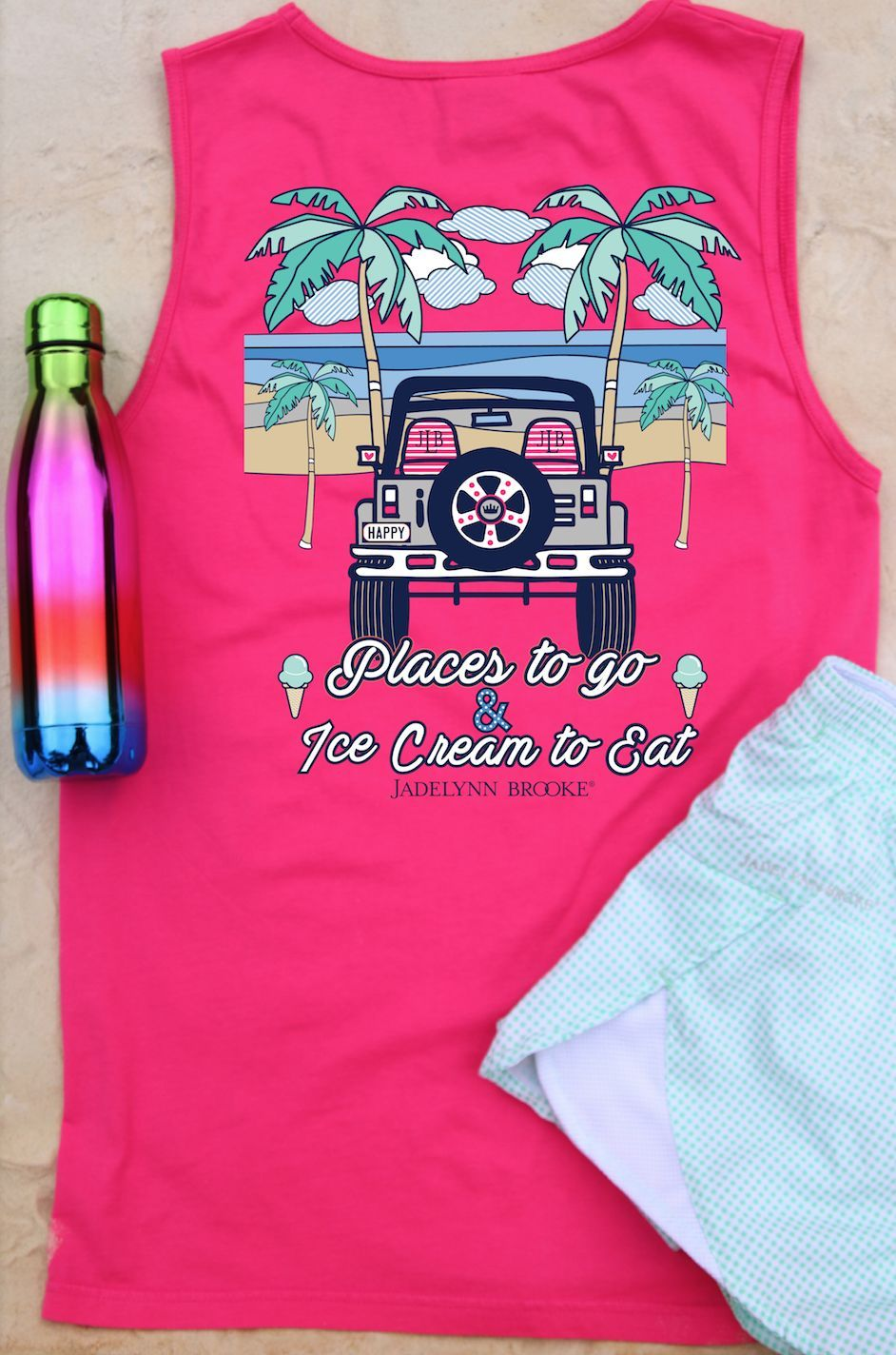 What Colors Go With Hot Pink places to go, ice cream to eat (hot pink) - tank | hot pink, pink