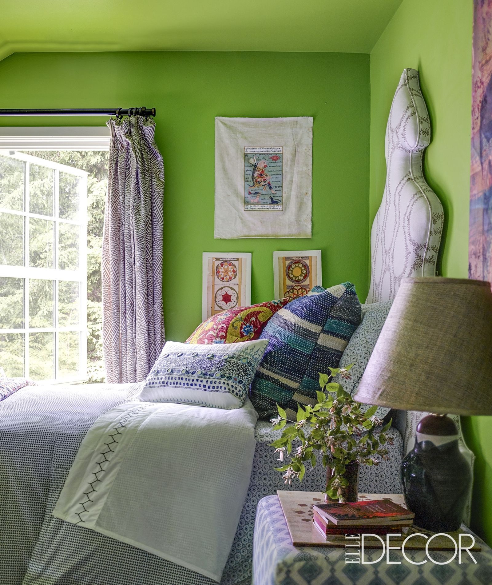 52 Small Bedroom Decorating Ideas That Have Major Impressions: This Is By Far The Most Colorful Country Home We've Ever
