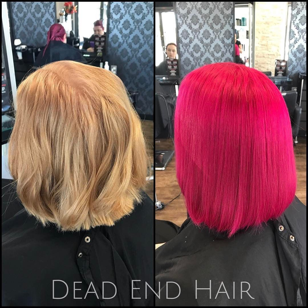 Strawberry blonde to strawberry explosion pinkhair