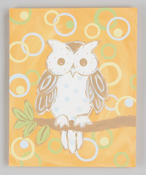 Take a look at this Whimsy Owl Canvas Wall Art on zulily today!