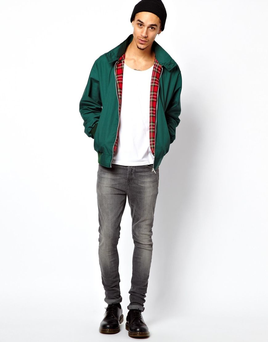 0490c12df009f Reclaimed Vintage Harrington Jacket