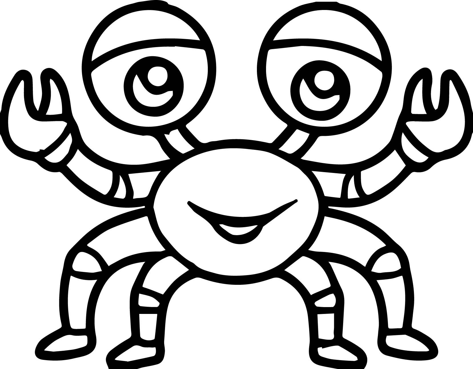 19+ Cartoon crab coloring pages ideas