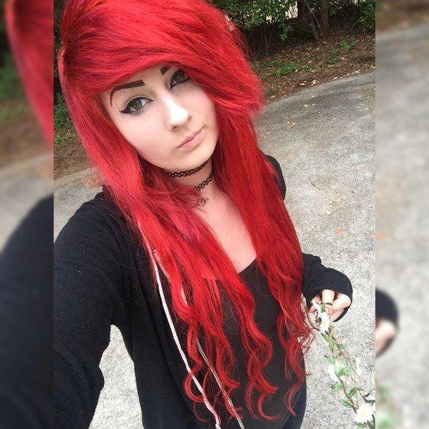 Redhead emo haircuts