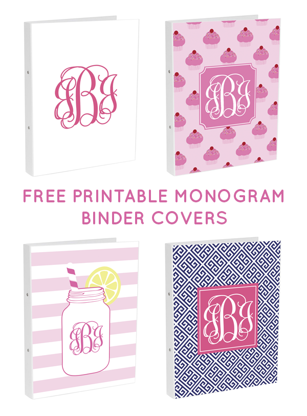 photograph about Free Printable Monogram Binder Cover titled Do it yourself Monogram Binder Addresses getting Totally free Monogram Templates