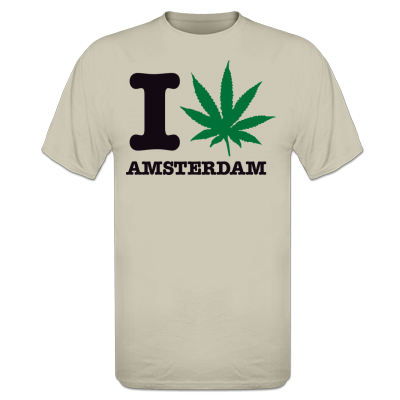 I Smoke Amsterdam Dames t-shirt