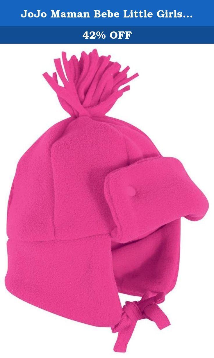 JoJo Maman Bebe Little Girls  Pom Hat (Toddler Kid) - Raspberry - 1 ... 7dcaa728ed2