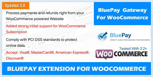BluePay Payment Gateway For WooCommerce  Updated to the latest - credit card form