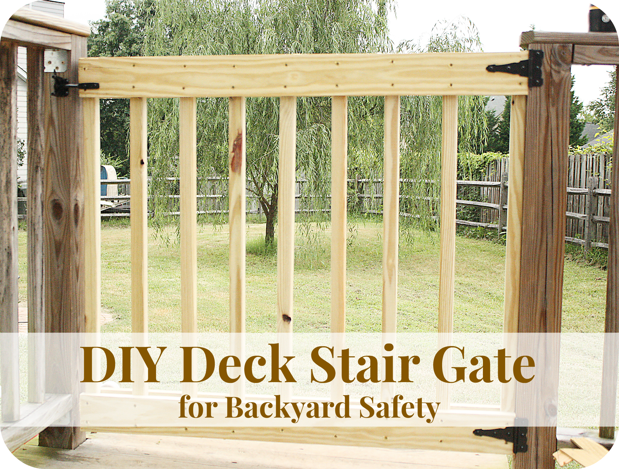 How To Build Your Own Deck Stair Gate Stair Gate Diy Deck Deck