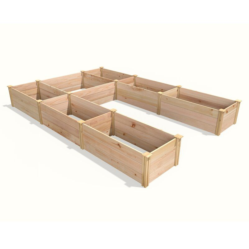 Ywain 8 Ft X 12 Ft Wood Raised Garden Raised Garden Beds Garden Beds Wood Raised Garden Bed