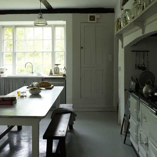 Georgian cottage modern rustic kitchens rustic kitchen for Georgian style kitchen designs