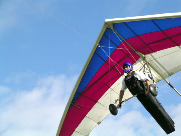 Hand gliding tandem read more at