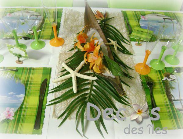d cor centre table mariage antillais barque coco mariage antillais ou sur le th me madras. Black Bedroom Furniture Sets. Home Design Ideas