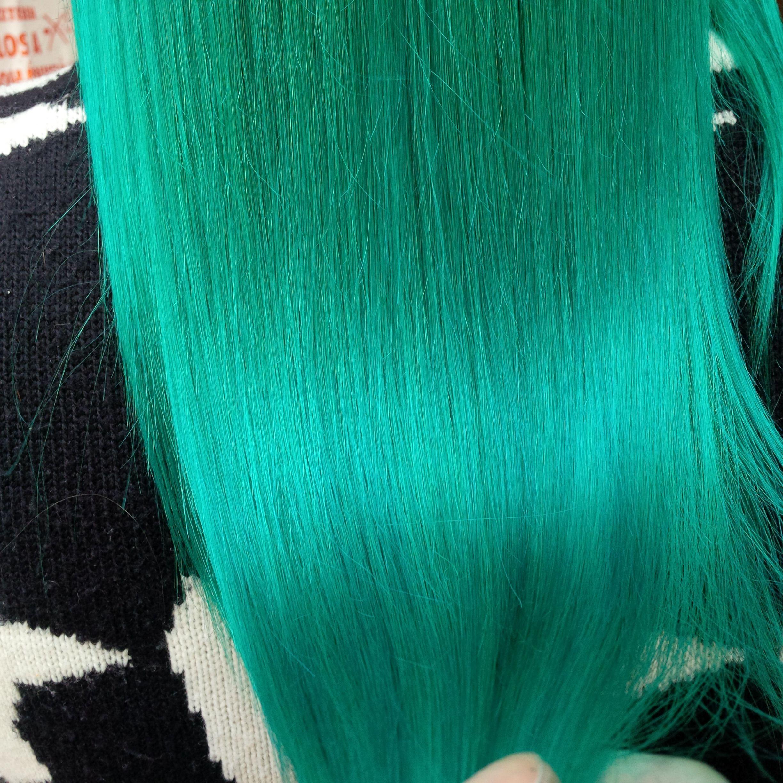Blue hair turquise hair directions hair colour alpine green
