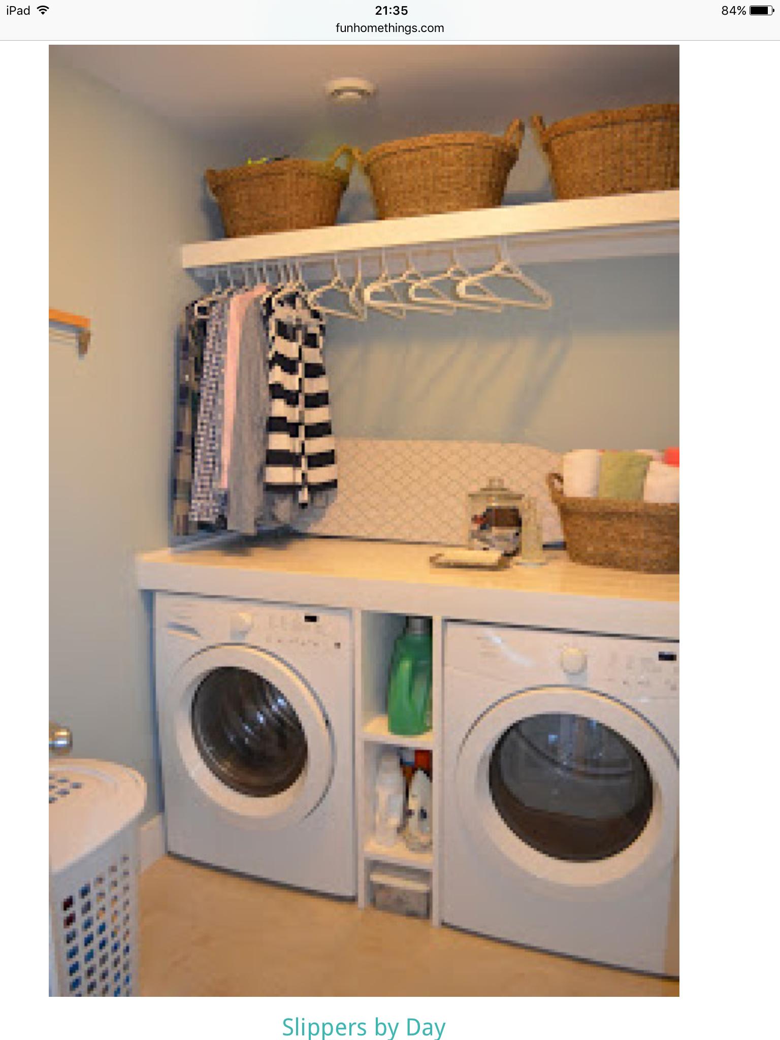 Berging voor uw wasplaats, met waskoker in uw kast verwerkt www ...