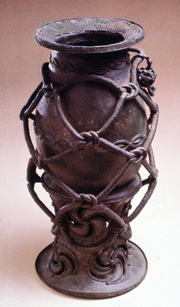 Igbo Ukwu bronze vessel. Nigeria, Africa. Incredibly skilled lost wax casting.