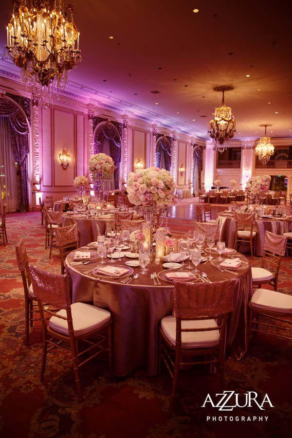 fairmont hotel olympic seattle ballroom spanish blush floranovadesign event nova weddings reception gorgeous flora planning