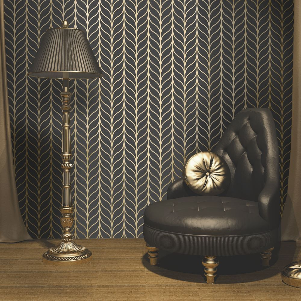 I Want Wallpaper Uk New From Holden Decors Statement Range And Exclusive To Comes This Superb Art Deco Stripe
