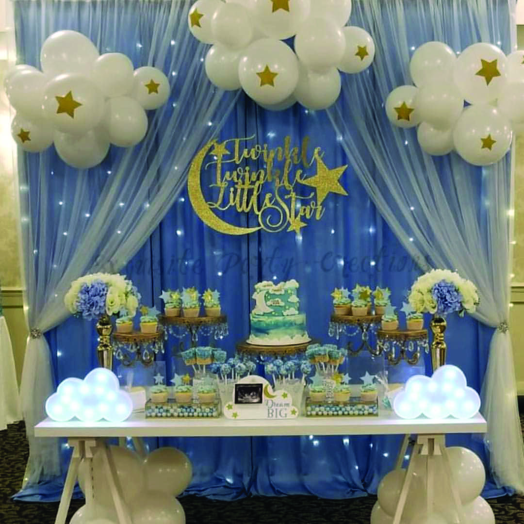 22 Do It Yourself Suggestions For The Best Infant Shower Ever Moon Baby Shower Twinkle Twinkle Baby Shower Baby Shower Themes