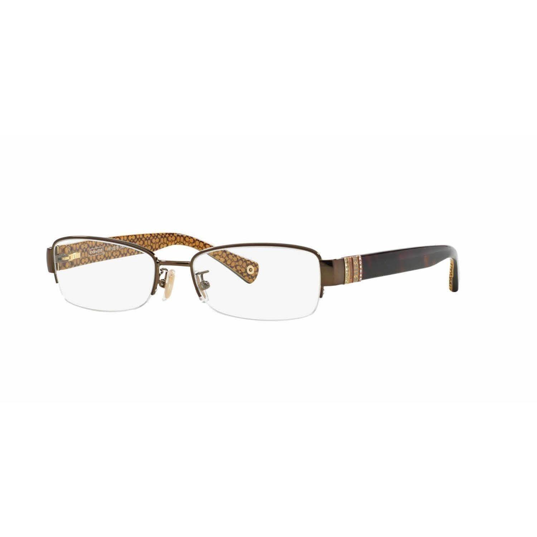 18a224c39b Coach Womens HC5027B CECILY 9094 Brown Metal Rectangle Eyeglasses ...