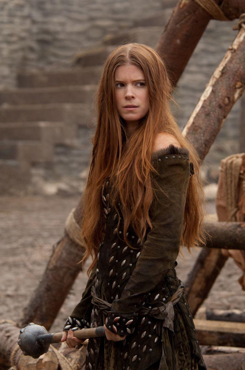 Redhead warrior woman