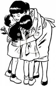 The End Of One Crazy Summer Was Touching And Emotional Fern Could Not Get On That Plane Without Hugging Cecile Black And White Cartoon Mother Clipart Mom Art