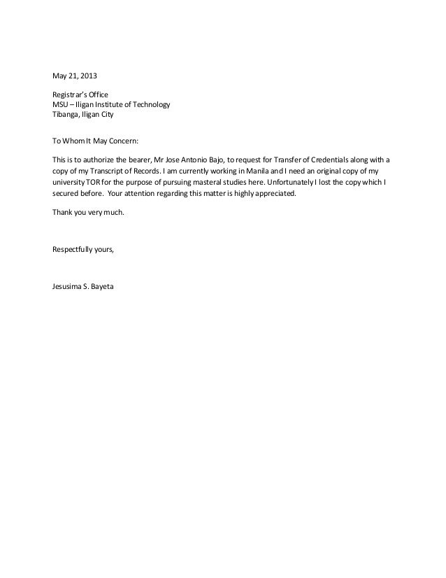 Simple Authorization Letter Format Gallery - letter format formal