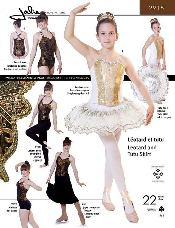 Jalie Dance Leotard Ballet Gymnastics Costume Sewing Pattern No.2915 ...