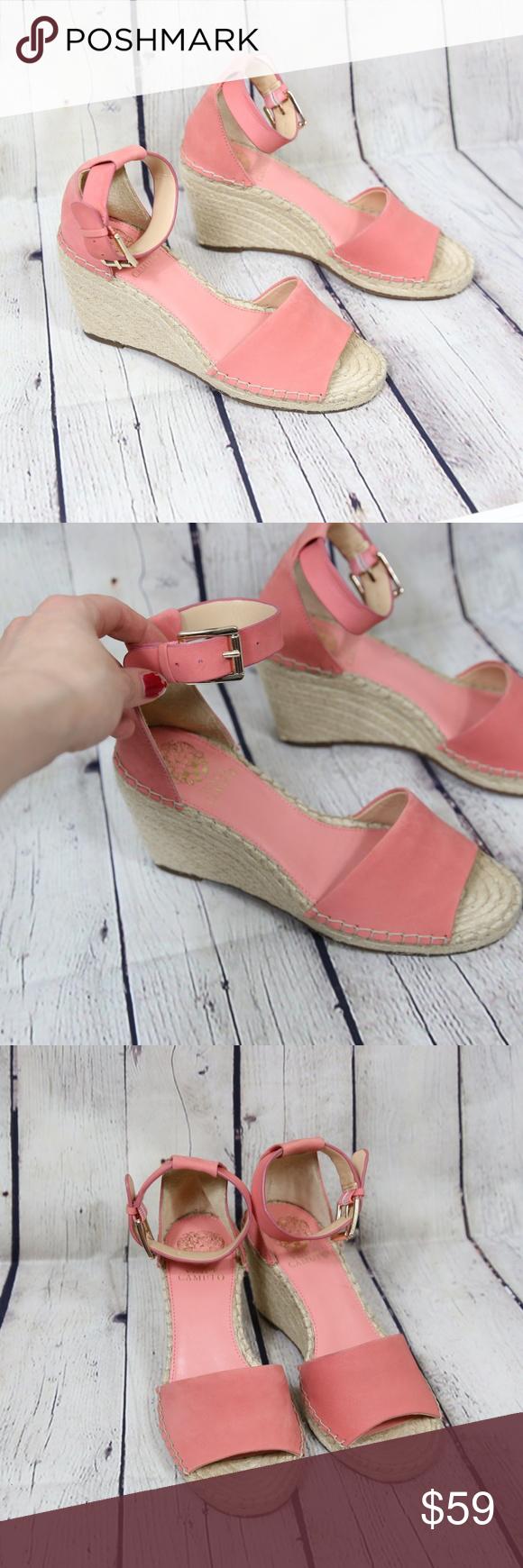 91b3da1d7a4 NEW Vince Camuto Leera Espadrille Wedge Sandals A sleek, ankle-strap ...