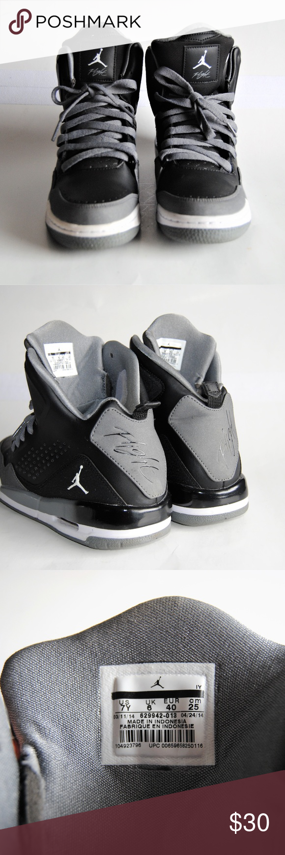best website 38a47 6bf7b Nike Air Jordan Flight SC-3 Boys HighTop Sneakers Nike Air Jordan SC-3