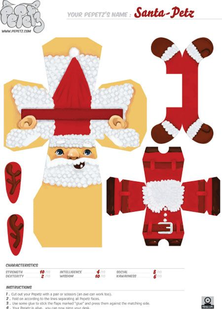 Papercraft Template Noel    Google  Ny Frends