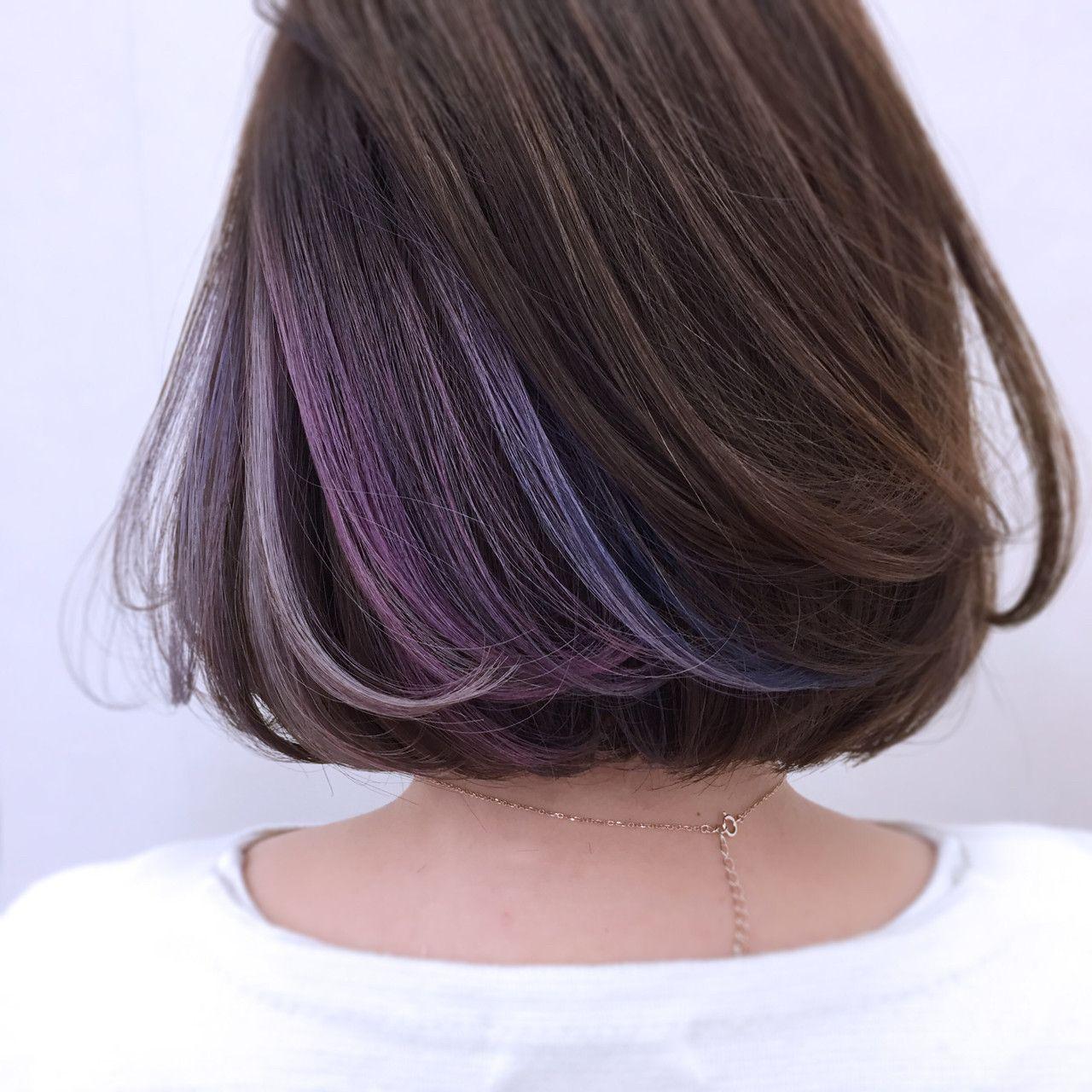 さて インナーカラーの中身です 髪染め ヘアカラー 2018 ヘア