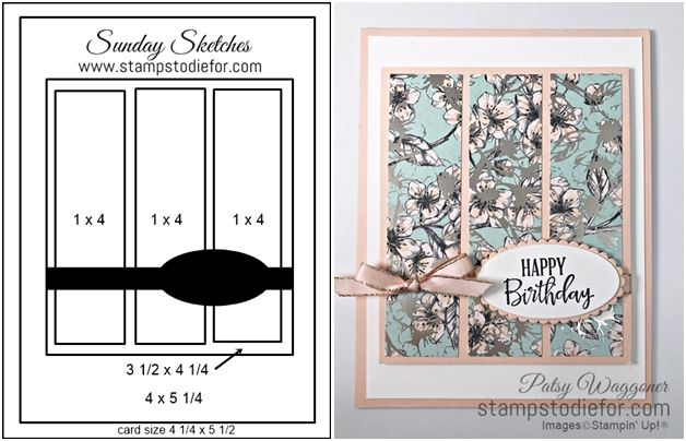 Sunday Sketches - Parisian Blooms Birthday Card