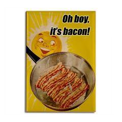 Bacon Rectangle Magnet > Funny Fridge Magnets > Cafe Pretzel T-Shirts & Gifts