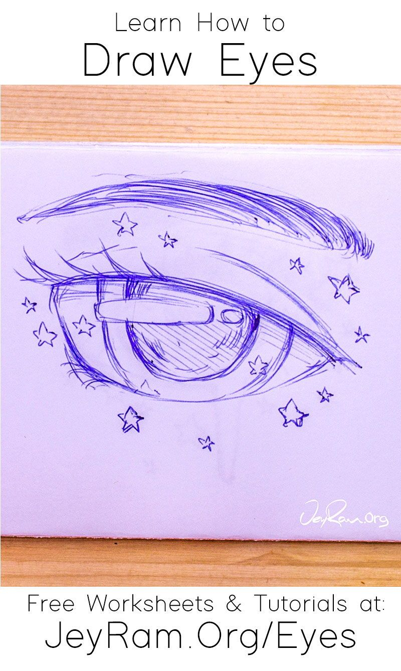 How To Draw The Eyes Step By Step For Beginners In 2020 Eye Drawing Drawings Learn To Draw