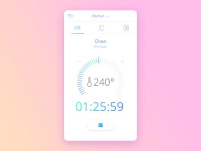 Oven Countdown Timer - Smart Home App UI | ux & ui | App ui, Mobile