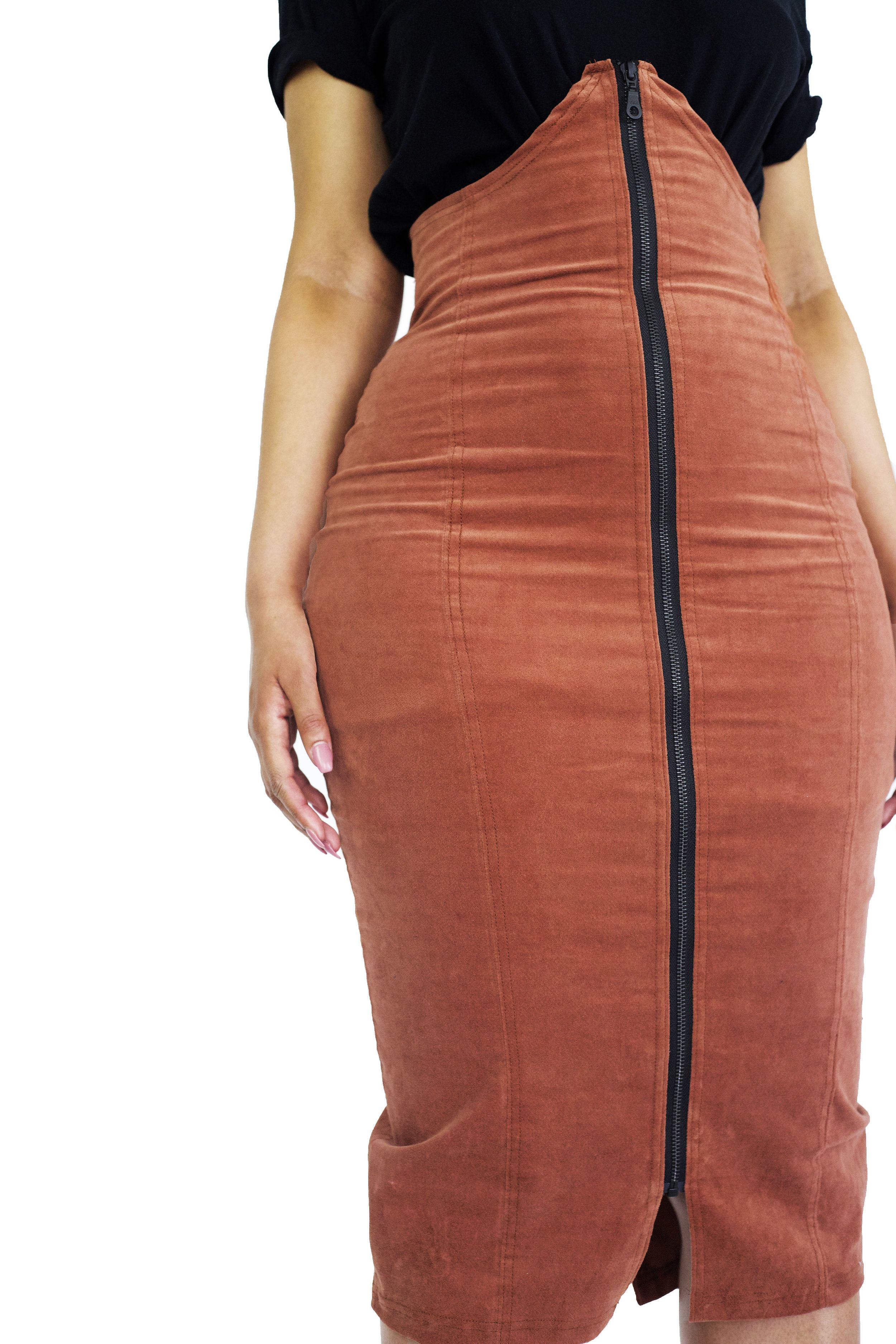 Pencil skirt fit. Body-con panels. Front zip detail. Under-bust ... 3776a027ac