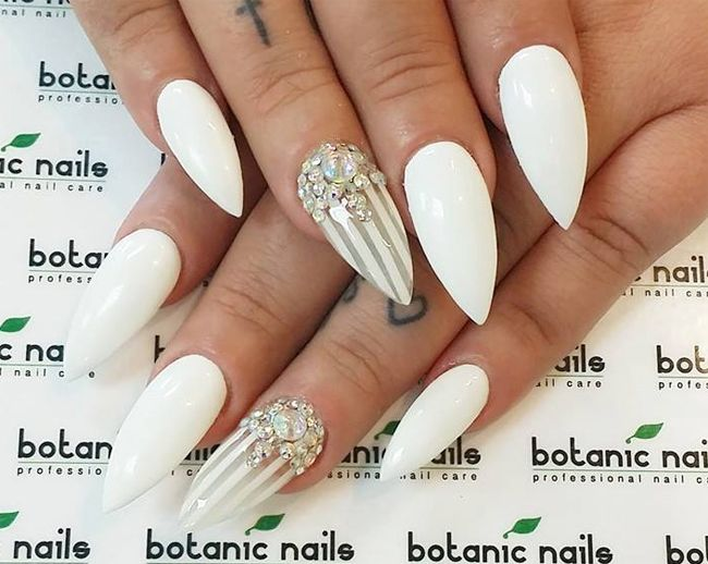 attractive-white-nails-paint-ideas-for-wedding | Nail Art ...
