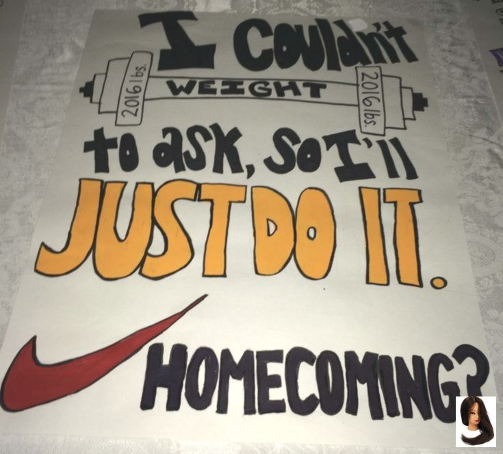 gym nike weight lift promposal prom homecoming dance fragen zeichen idee #singleprompi #promproposal
