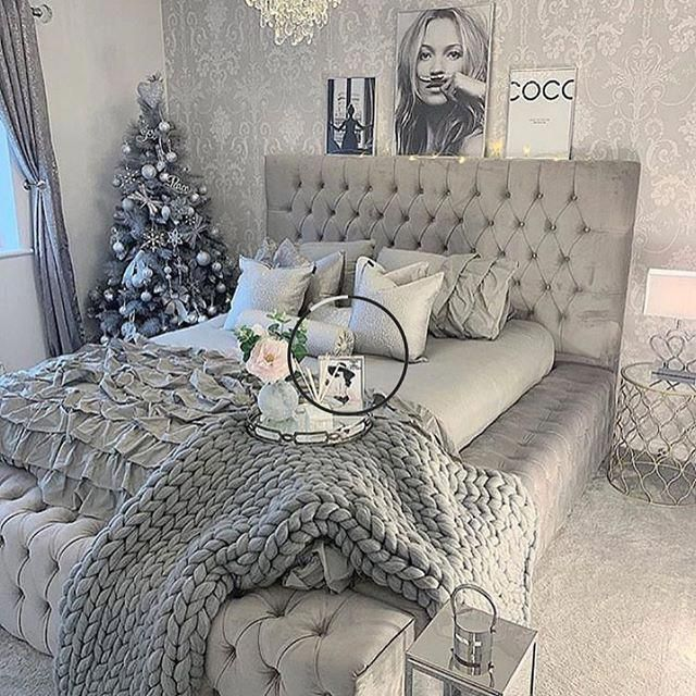 50 Sleigh Bed Inspirations For A Cozy Modern Bedroom: Monochrome Collection Chunky Knit Blanket 50 In 2020 (With