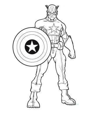 Captain America Coloring Pages Avengers Coloring Superhero