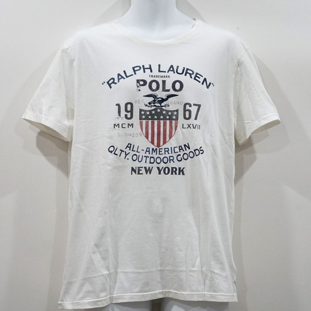 b561c5e1 Polo Ralph Lauren Men's Cotton Short Sleeve White Classic Graphic Tee Size  L NWT #PoloRalphLauren #GraphicTee