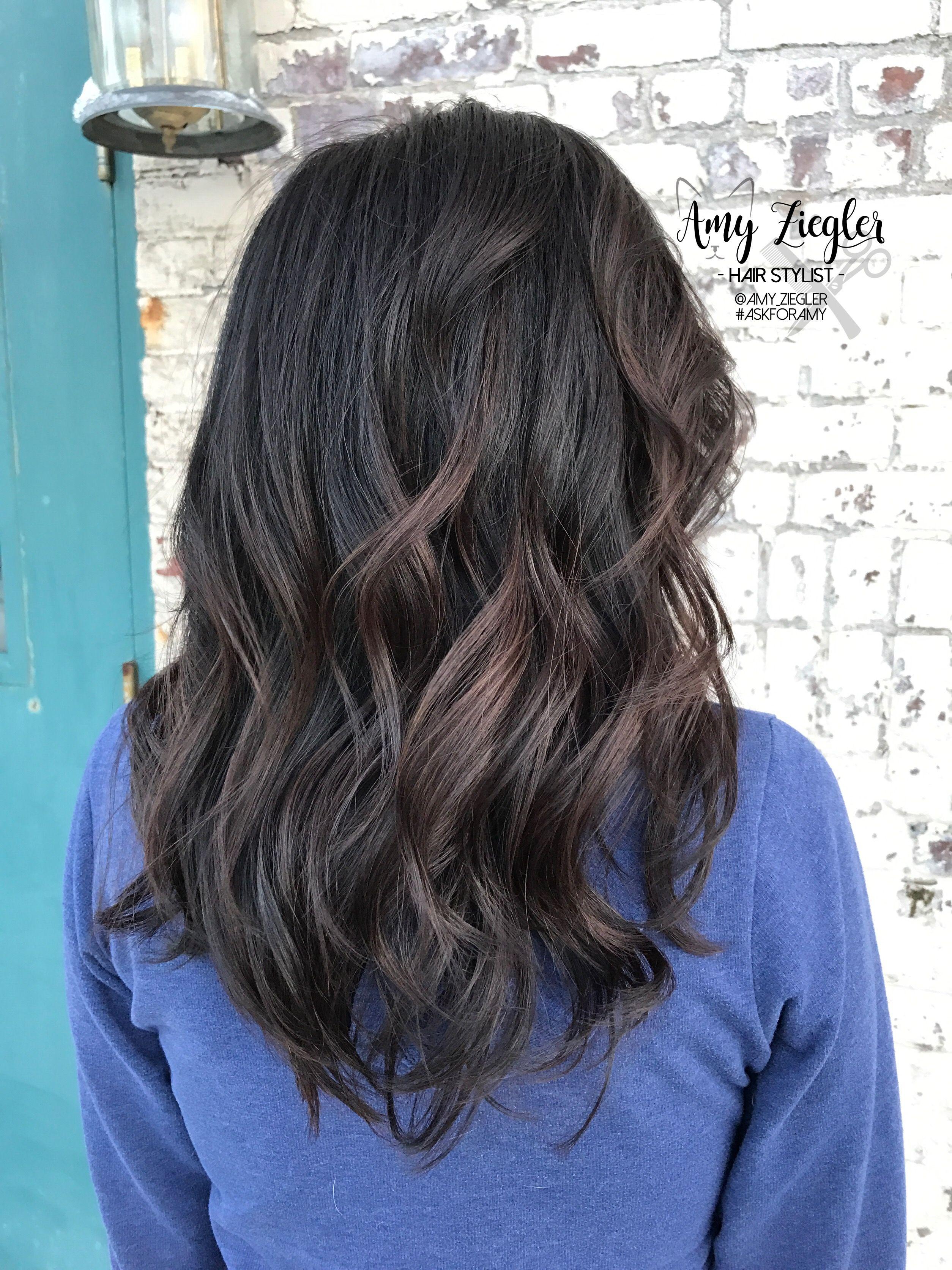 Dark chocolate brown haircolor multi-tonal by @amy_ziegler ...
