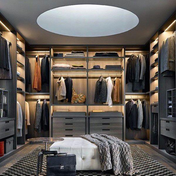 Mens Closet Organization Small Walk In