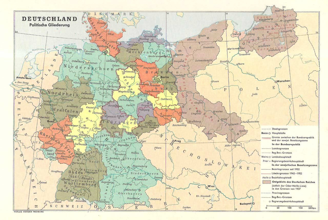 Germany Political Structure Maps Produced In The Federal