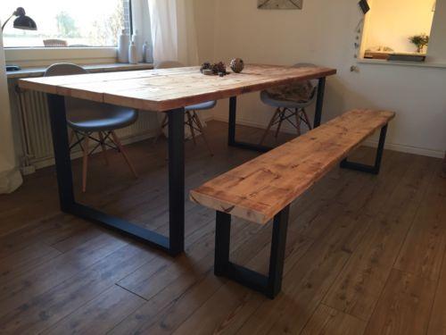 tisch bauholz ger stbohlen industrie design in niedersachsen oldenburg esstisch gebraucht. Black Bedroom Furniture Sets. Home Design Ideas
