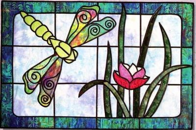 DRAGONFLY POND QUILT PATTERN