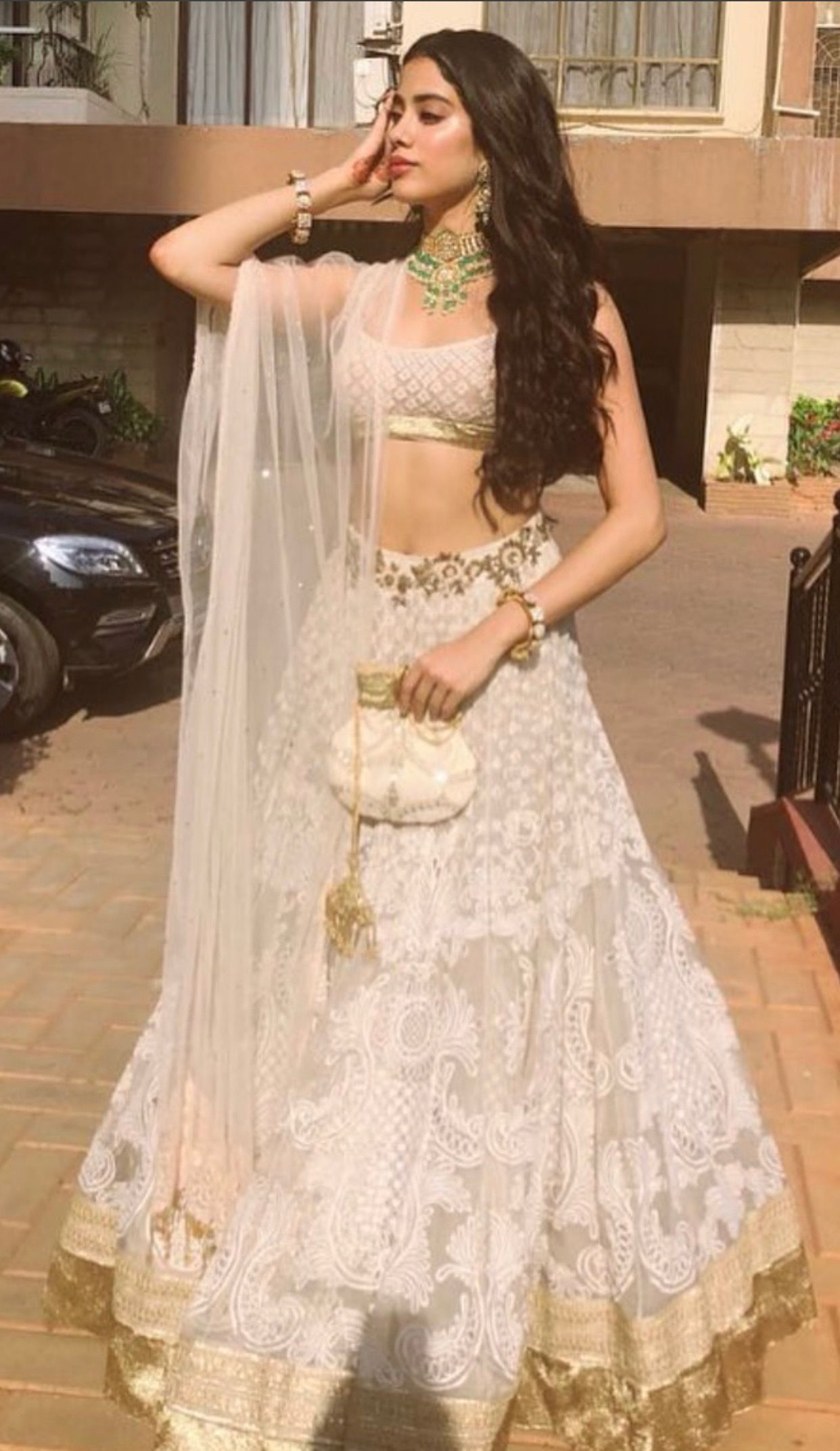 She Is Looking Elegant And Classy In This Manish Malhotra S Attire Beautifuldressforweddingfunction Indian Wedding Dress Indian Bridal Wear Indian Dresses